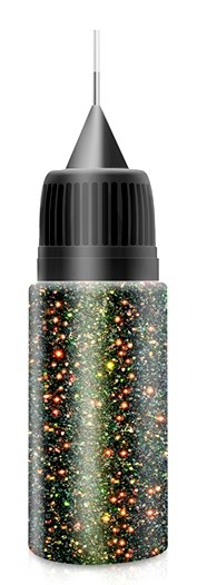 Black Red to Green Fairy Dust Glitter in XL-Squeezer Flasche