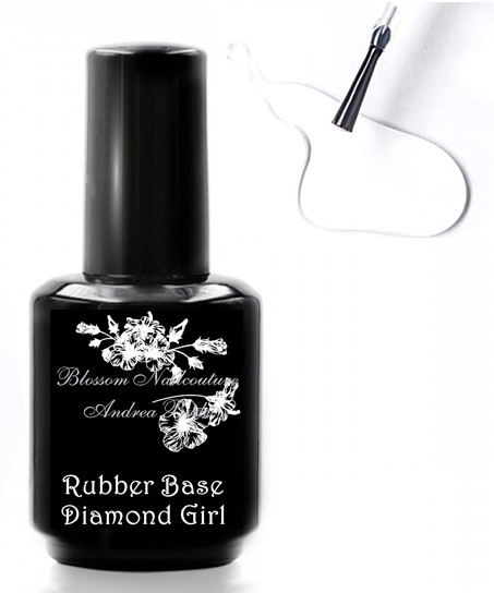 Rubber Base Diamond Girl 15ml - clear