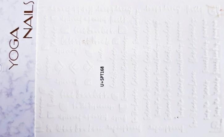 Luxus Design Sticker Schrift Weiss
