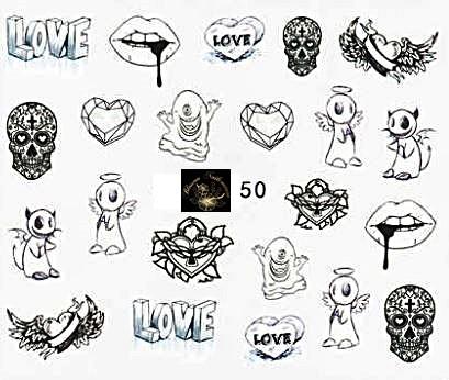 Script 50 Tattoo Slider - hochdeckend