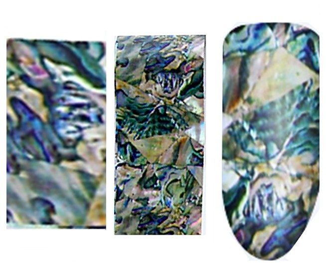 XL Transfer Folie Perlmutt Seashell