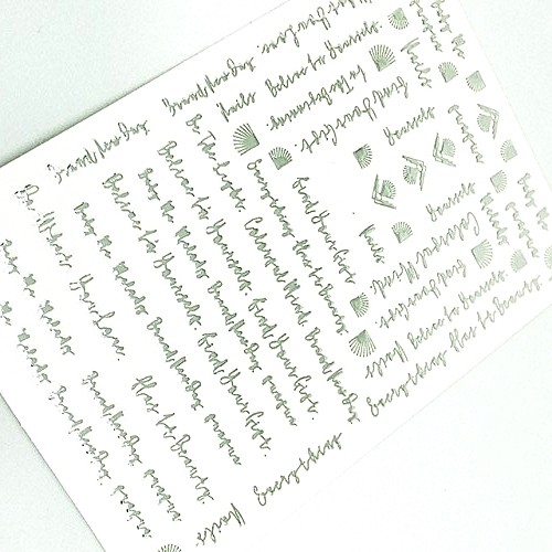 Luxus Chrome Design Sticker Schrift Silber