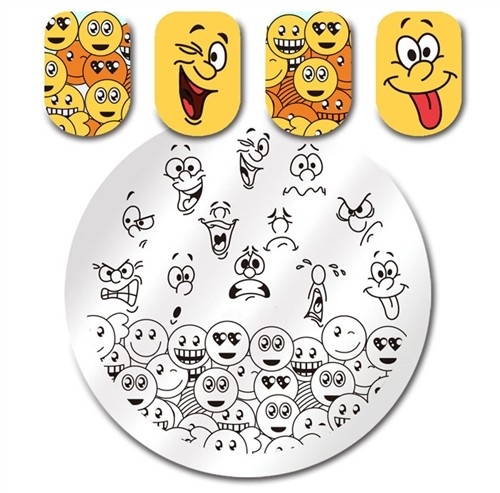 Stamping Plate Smiley Faces