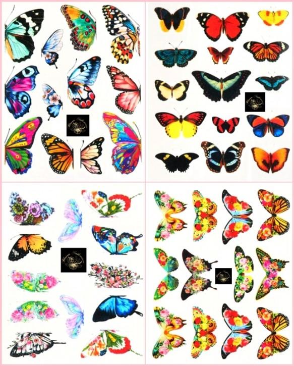 So Many Butterflies Tattoo Set - hochdeckend