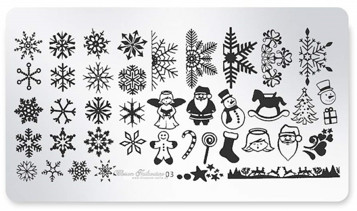 Stamping Plate Winter & X-mas 03