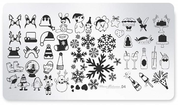 Stamping Plate X-mas, Silvester, Winter 04