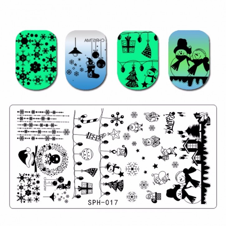 Stamping Plate Winter Holiday
