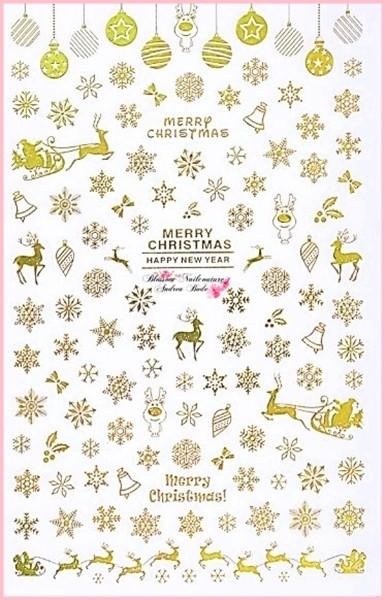Weihnachtssticker X-mas Chrome Gold