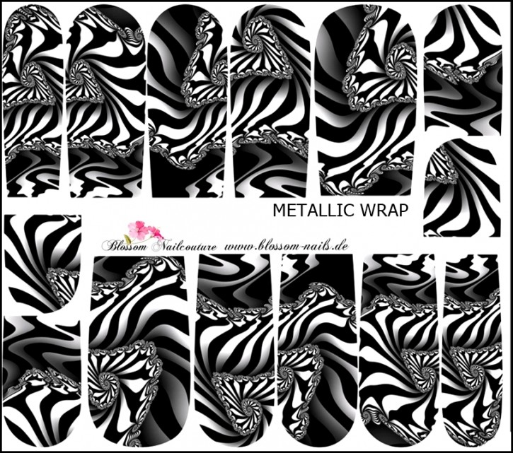 Blossom Nailcouture METALLIC Wrap Virtual Disaster