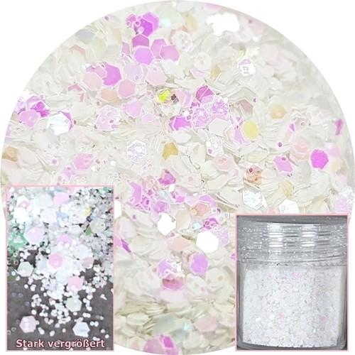 Glamour Glitter Swirl Crystal & White XL-Größe
