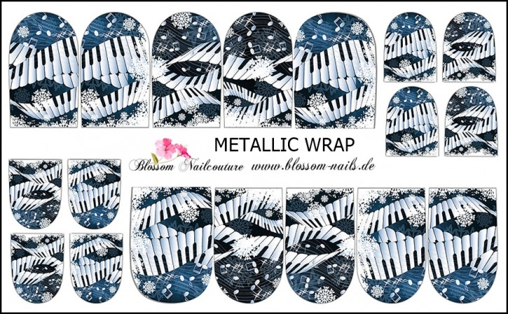 Blossom Nailcouture METALLIC Wrap Winter Wonderland