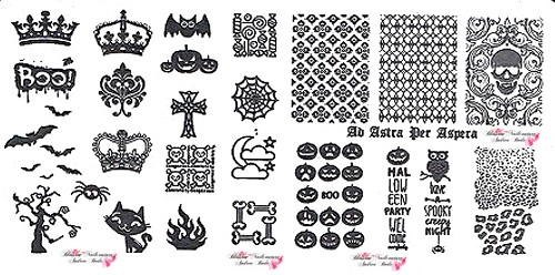 Stamping Plate BOO Halloween