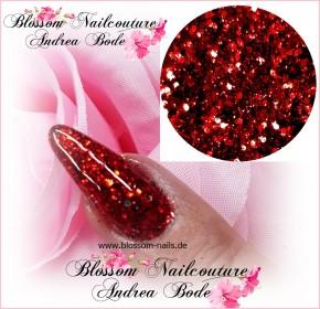 Glamour Glitter Swirl Red XL-Größe