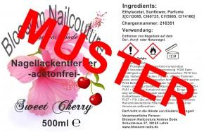 Nagellackentferner - acetonfrei - Sweet Cherry 500ml