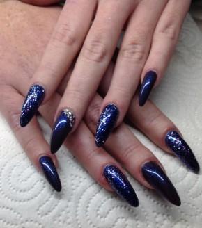 3in1 Gellack Blue Stars in Black 7,5ml