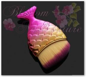 Mermaid Chrome Pink/Rosegold Staubpinsel