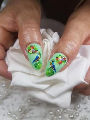 12er Set Flamingo & Flowers Tattoo Wraps hochdeckend
